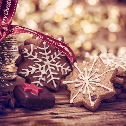 Weihnachten Postkarte Kekse